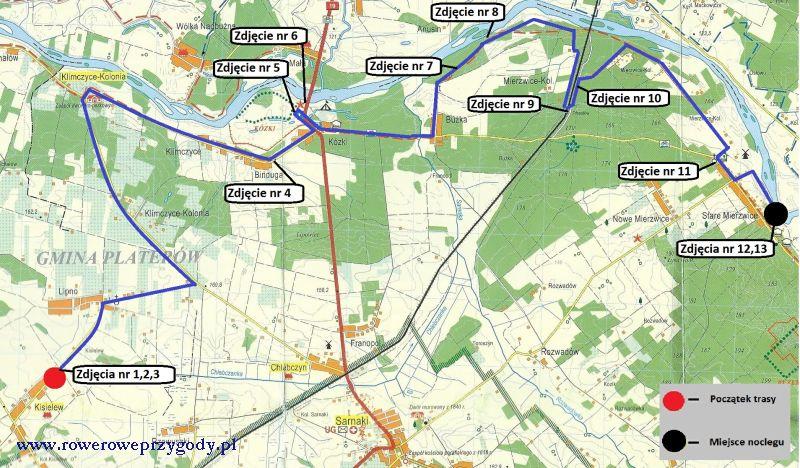 Mapa wycieczki nr 37 _ 1 dzień