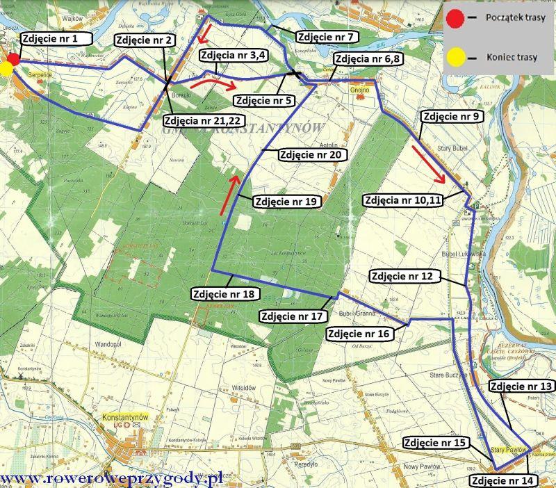 Mapa Wycieczka 39 OK