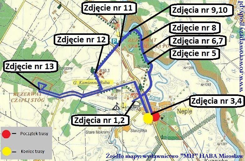Mapa wycieczki 42