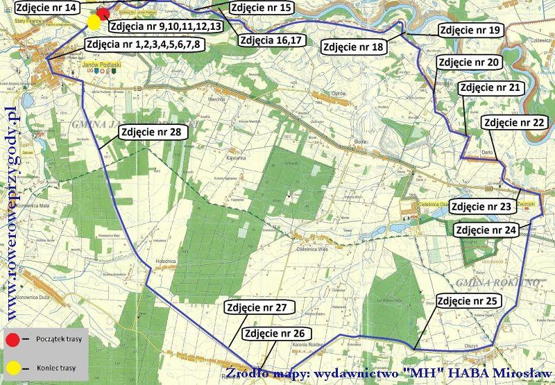 Mapa wycieczki nr  40