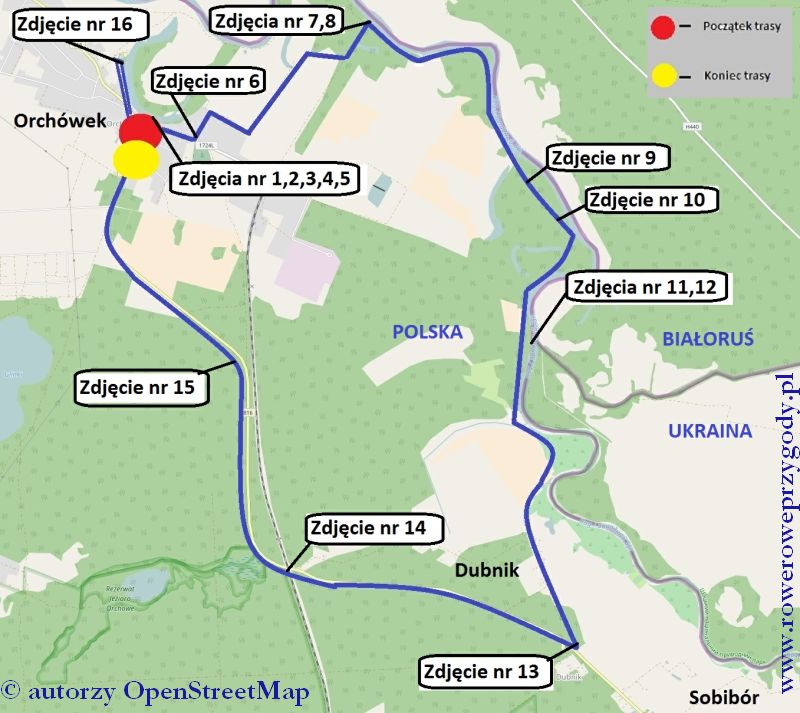 Wycieczka 51 mapa