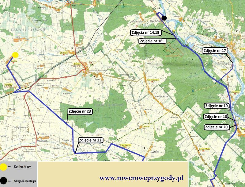 Mapa wycieczki nr 37 _ 2 dzień