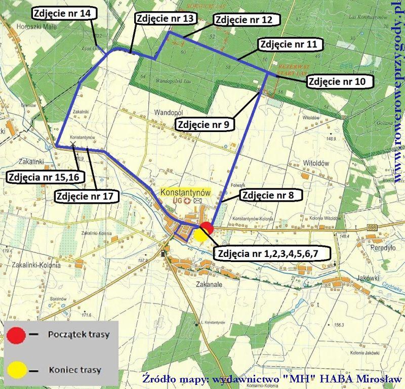 Mapa Wycieczka 43