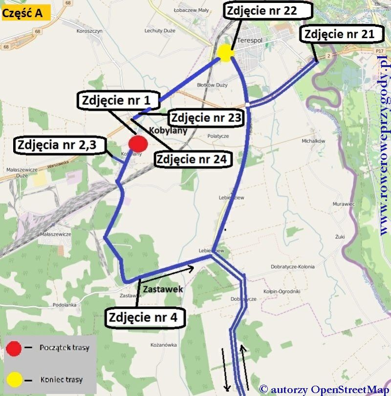 Wycieczka 46 mapa część A