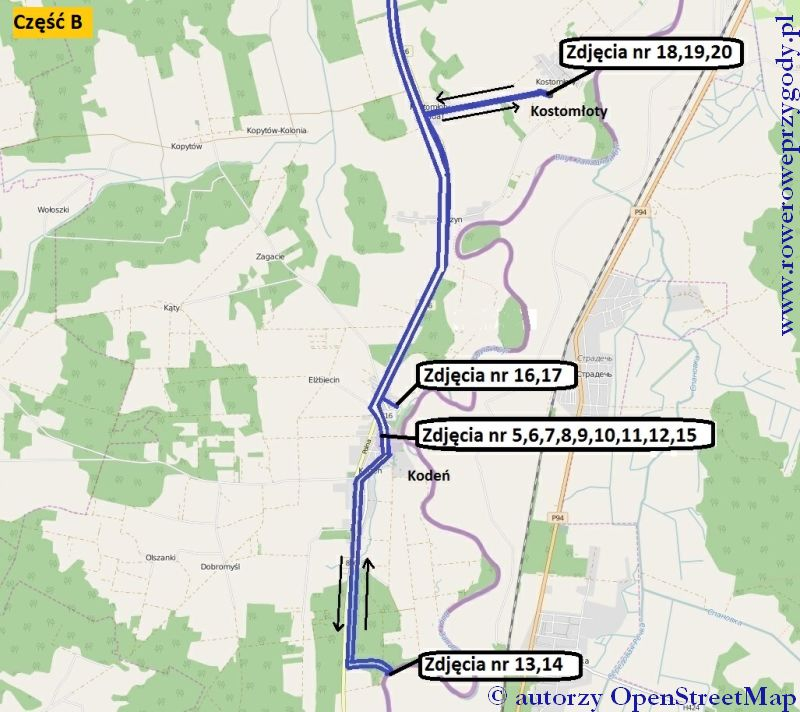 Wycieczka 46 mapa część B