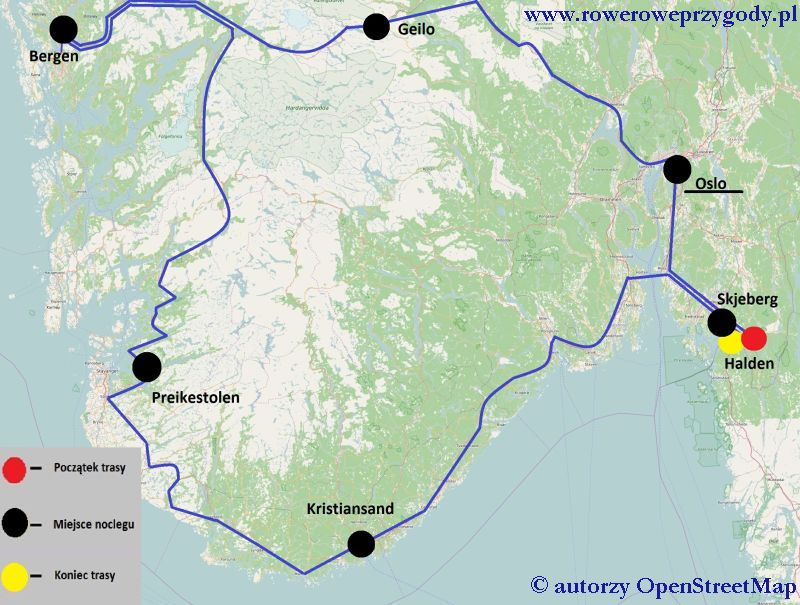 Wycieczka nr 50 Mapa